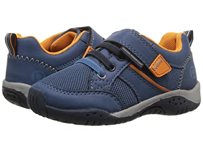 pediped Justice Flex (Toddler/Little Kid) (Navy/Orange) Boy