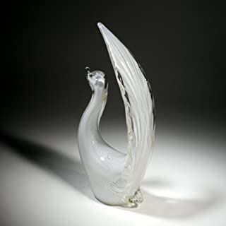 Art Glass Hand Blown Sale, 11-inch Glass Bird by Deco4Sale