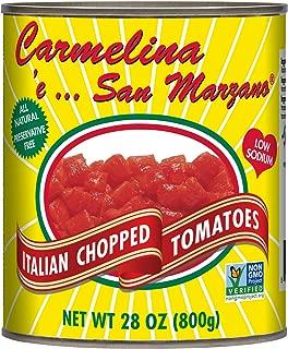 Carmelina San Marzano Italian Chopped Tomatoes in Puree, 28 Ounce (Pack of 6)