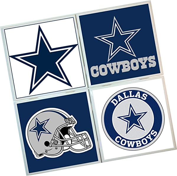 Dallas Cowboys Coasters Set Of 4 Tile Coasters Football