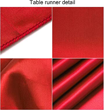 Aneco 4 Pack Satin Table Runner 12 x 108Inch Long Bright Silk and Smooth Fabric Party Table Runner for Wedding Banquet Party