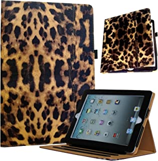 JYtrend Case for 2019 iPad 10.2, for iPad 7th Generation, Multi-Angle Viewing Stand Folio Smart Cover with Pocket Auto Wake Up/Sleep for Model A2197 A2198 A2199 A2200 (Leopard)