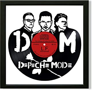 SofiClock Depeche Mode Framed Decor Vinyl 13.8x13.8 - Unique Wall Art Decor Depeche Mode Rock Band - Best Gift for Rock Music Lover - Original Wall Home Decor (Framed Vinyl)