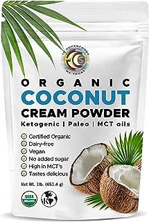 Earth Circle Organics - Organic Coconut Cream | Milk Powder, Perfect Keto Coffee Creamer - High in MCT Oil, Vegan, No Added Sugar, Vegan, Gluten and Dairy Free - 1 Pound1 Pound
