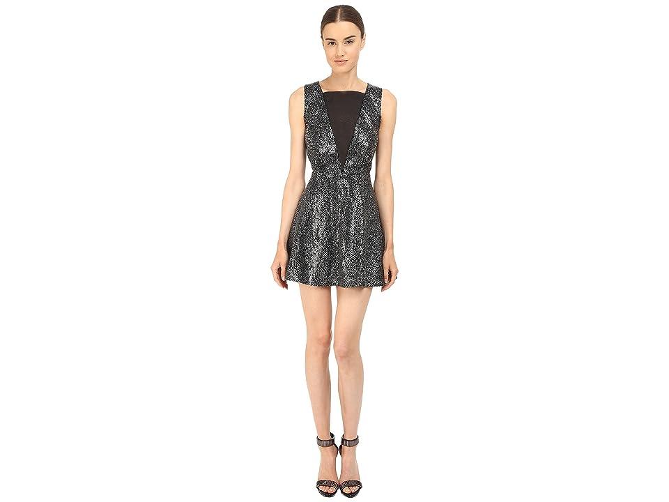 McQ Deep V-Neck Dress (Silver) Women