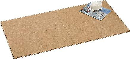 CB JAPAN 拼接地墊 軟木30×30厘米 8片組 細目 自然