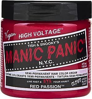 Manic Panic Semi-Permament Haircolor Red Passion 4 Ounce Jar (118ml)