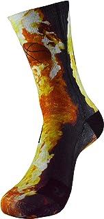 Jugador de baloncesto de la potencia máxima Calcetines con Diseño Motivo Hecho a Mano Calcetines de impresión 3D para Baloncesto Voleibol Tenis Fitness Respirable Coolmax Calcetines deportivos
