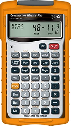 $52 » Calculated Industries 4065 Construction Master Pro Advanced Construction Math Feet-inch-Fraction Calculator for Contractors, Estimators, Builders, Framers, Remodelers, Renovators and Carpenters