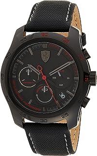 Ferrari Men's Black Dial Nylon Band Watch - 830446