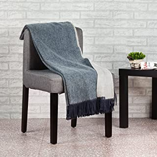 spencer & whitney Blanket Throws Wool Blanket Denim Blue Blanket Australian Wool Throws Cashmere Wool Shawl Wrap Soft Lightweight Blanket Throws for Couch Bed