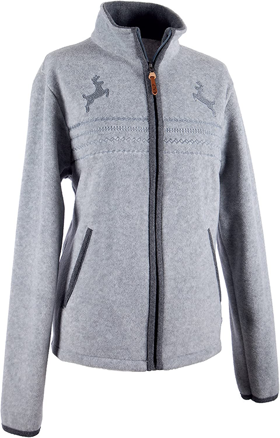 Alp by Brush Ladies Fleece Jacket with Embroidery and Strass