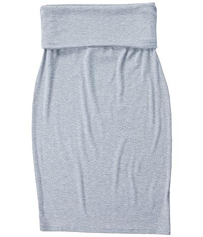 LAmade Triny 2x1 Modal Stretch Rib Skirt (Heather Grey) Women