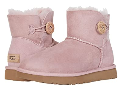 UGG Mini Bailey Button II (Pink Crystal) Women