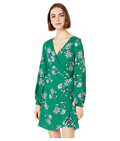 Cupcakes and Cashmere Mystique Printed Wrap Dress (Verdant Green) Women