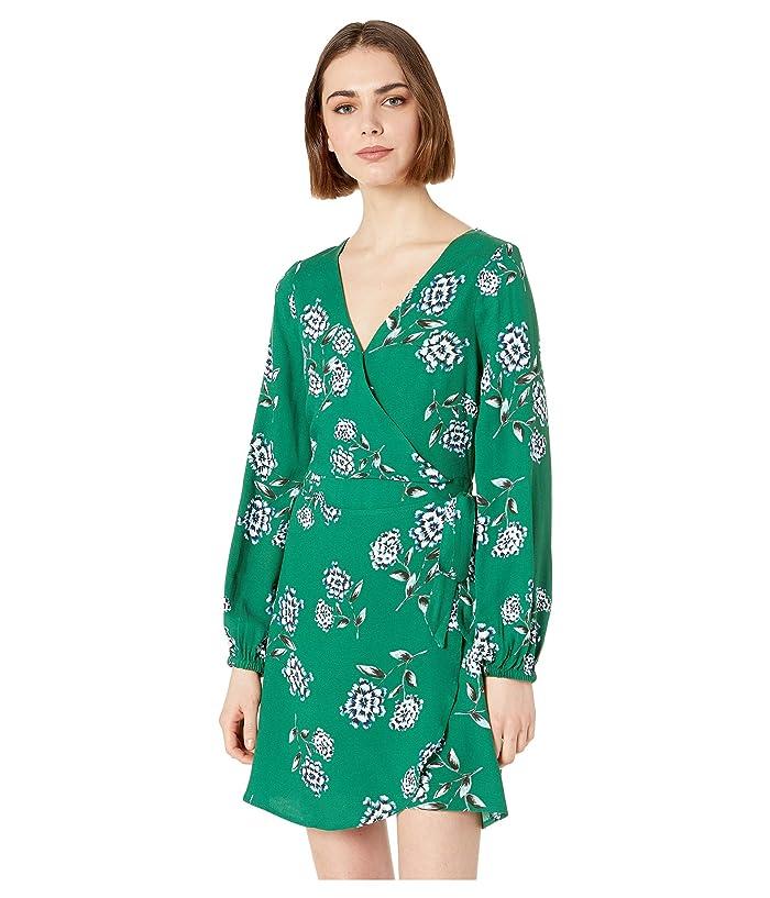 Cupcakes and Cashmere Mystique Printed Wrap Dress (Verdant Green) Women