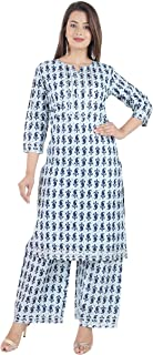 Aruati Blue Colour Rayon Material Ethnic Set for Women
