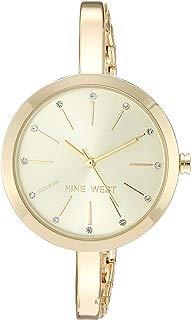 Nine West - Reloj de pulsera con cristales para mujer