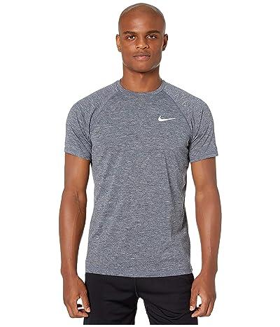 Nike Heather Short Sleeve Hydroguard (Obsidian) Men