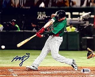 Alex Verdugo Signed Autographed 8X10 Photo Dodgers WBC Team Mexico Swing Beckett