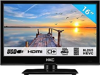 HKC 16M4: Téléviseur LED de 39,6 cm (16 Pouces) (HD-Ready 1.366 x 768, Triple Tuner, CI..