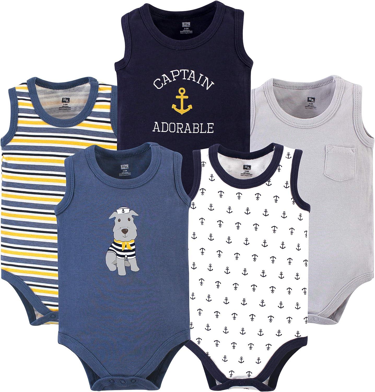 Hudson Baby Unisex Baby Cotton Sleeveless Bodysuits