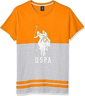 Men's Two Tone Logo Print Short Sleeve T-Shirt