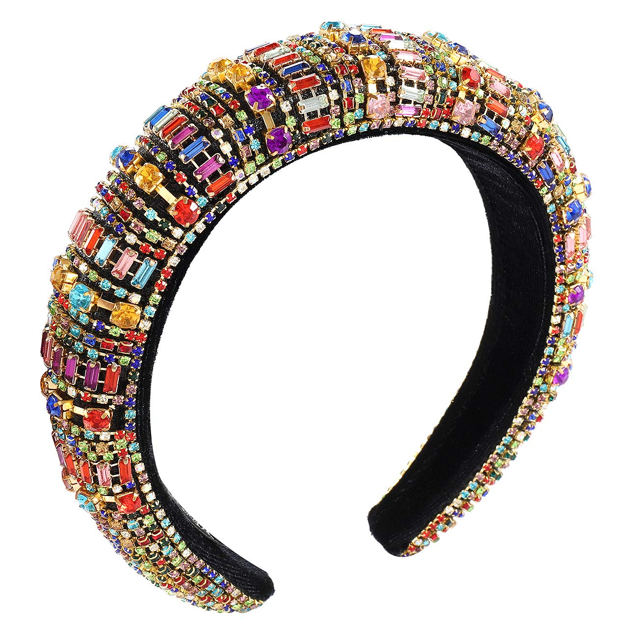 Padded Rhinestone Super intense SALE Crystal Louisville-Jefferson County Mall Headbands For Women Girls Sparkly Colo