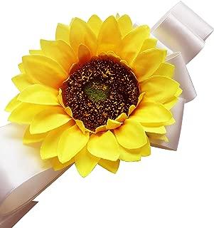 FANFAN Sunflower Girl Belt Wedding Sash Baby Showers Sash Maternity Belt Y051