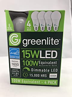 100w Equivalent Led Bulb 4pack, 3000k Dimmable Energy-Star, 1600 lumens