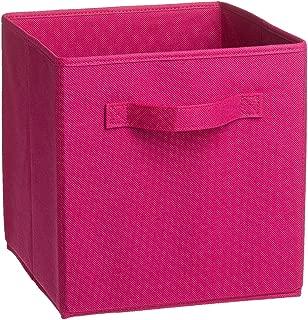 Uworld Single Handle Nonwoven Storage Bins,Foldable Cube Organizers Basket Without Cover (Burgandy)