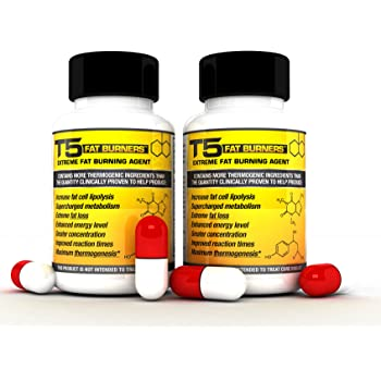 x2 Original T5 Fat Burners : Super Strength Slimming/Weight Loss/Diet Pills (2 Month Supply)