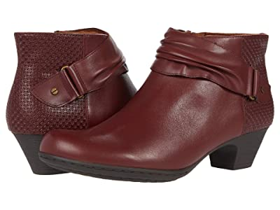 Rockport Brynn Rouched Boot (Madder Brown) Women