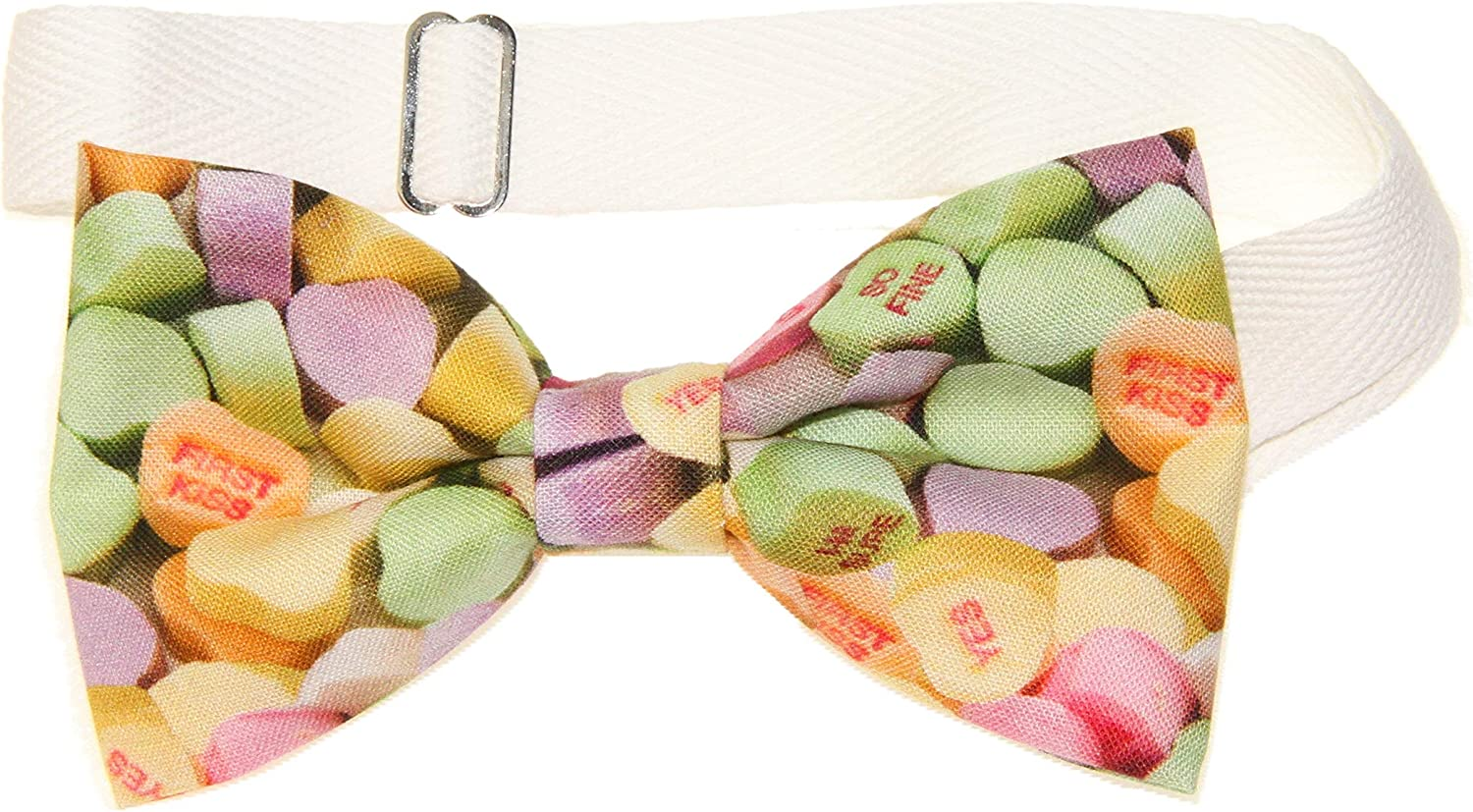 Men's Sweetheart Candies Pre-Tied Cotton Bow Tie On Adjustable Twill Strap