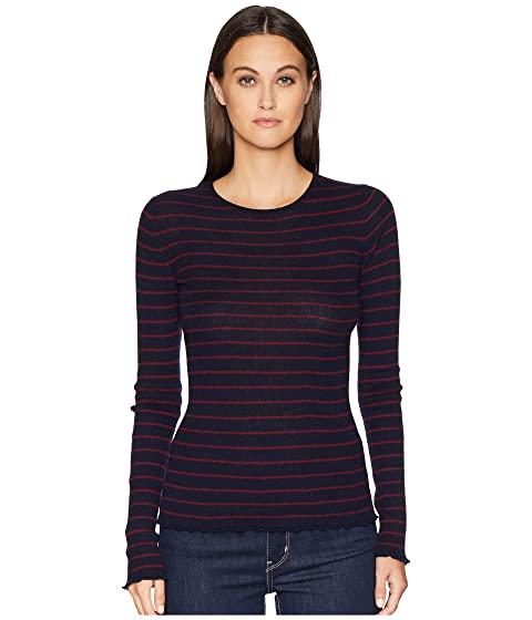 Vince Stripe Ribbed Crew