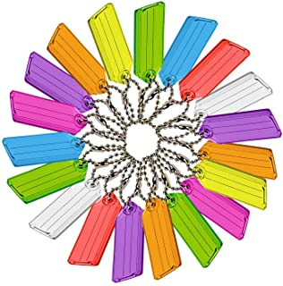 Lucky Line Key Tag with Ball Chain, Pack of 50, Assorted Colors (10175)
