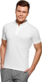 oodji Ultra Uomo Camicia Basic con Finitura a Contrasto Bianco EU 44 XL 44cm IT 54