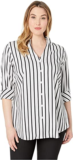 Plus Cena Stretch Stripe Tunic
