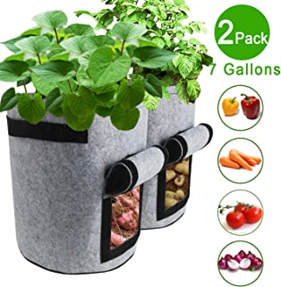 Hydro Crunch 45 Gallons Grow Bag Fabric Aeration Pots Container with Strap Handl