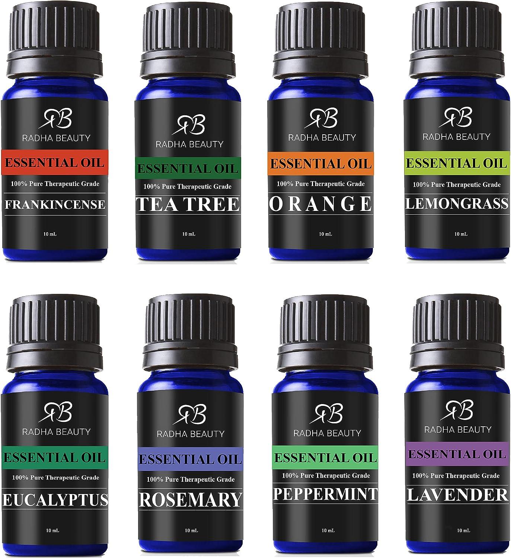 4. Radha Beauty Aromatherapy Top 8 Essential Oils
