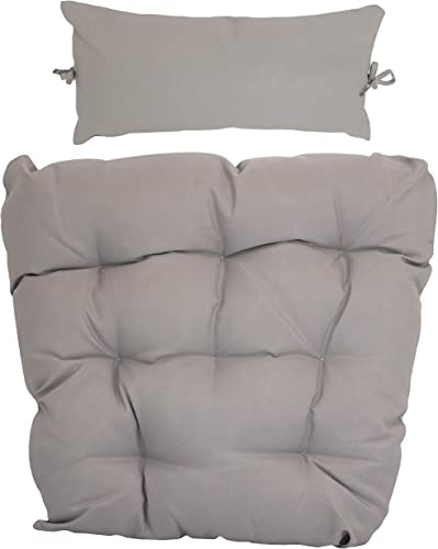 high quality Sunnydaze Egg online sale Chair Cushion discount Replacement with Head Pillow, Gray outlet sale