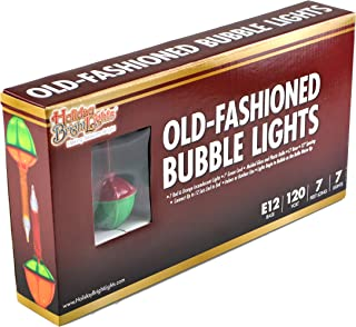 Holiday Bright Lights Christmas Bubble Light Set, 7 ft. Long, 7 Bubble Lights, Perfect for Christmas Trees, Bubbles as it Glows, Great for Events (Multicolor)