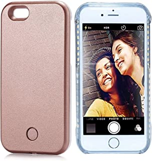 Vanjunn iPhone 5s Selfie Light Case LED Illuminated Light Up Phone Case for iPhone 5Se Rose Gold