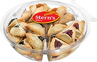 Hamentaschen Cookies | Shortbread Cookies with Apricot, Raspberry & Prune Filling | Hamentashen Cookie Gifts| Mishloach Manot Purim Gifts Idea | Dairy & Nut Free | Purim Cookies | 21 oz Stern's Bakery