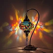 Mozaik Lamba El Yapımı Gece Lambası Otantik Osmanlı Lambası Renkli Abajur