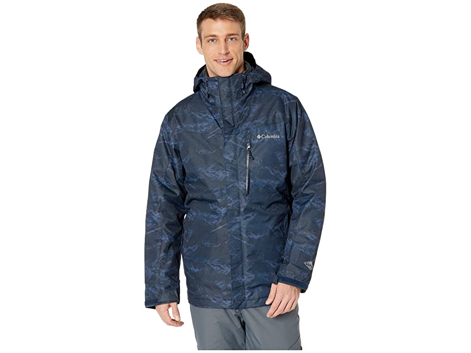 Columbia Whirlibirdtm III Interchange Jacket (Collegiate Navy Mountain Jacquard/Shark) Men