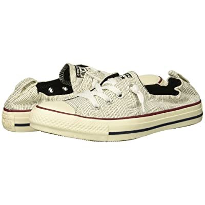 Converse Chuck Taylor All Star Shoreline Prep Style Slip (Black/Egret/Egret) Women
