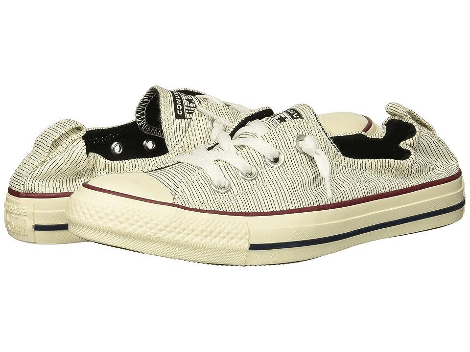 f0a9a34c097966 Converse Chuck Taylor All Star Shoreline Prep Style Slip (Black Egret Egret)  Women s Shoes