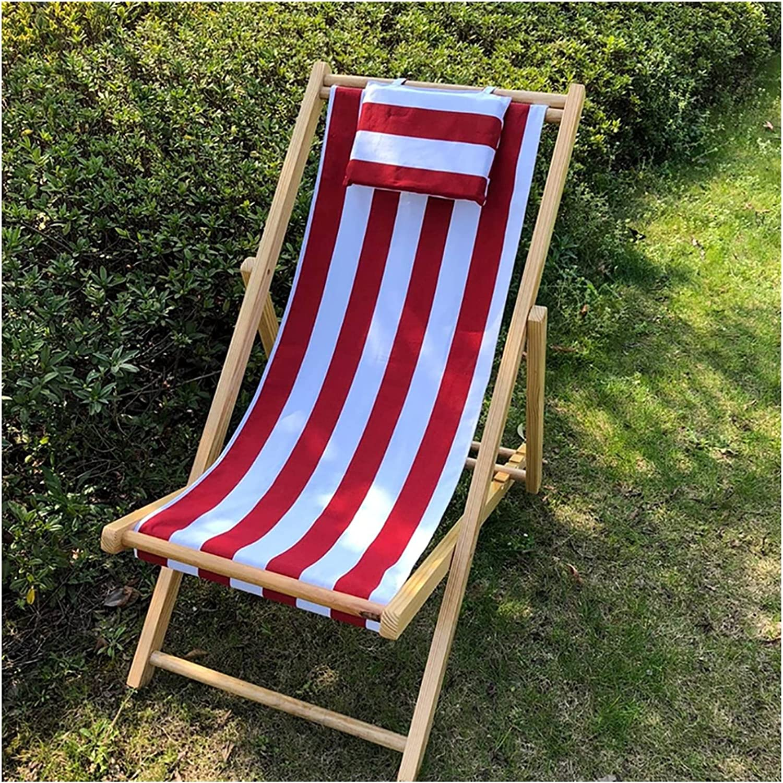 Wooden Max Ultra-Cheap Deals 65% OFF Deck Chair Garden Lounger Folding with Pillow Adj Outdoor
