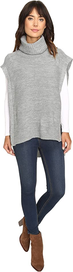 BCBGeneration - Turtleneck Purl Poncho